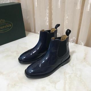 Church's - チャーチ サイドゴアブーツ ケッツビー 革靴 37 ブルー系