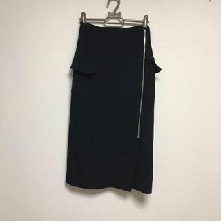 CLANE 巻きスカート(ひざ丈スカート)