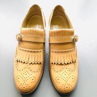 ブルーノマリ(BRUNOMAGLI)のブルーノマリ牛革 美品ローファー23.5(ローファー/革靴)
