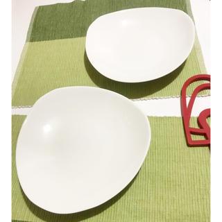 スイートルーム(SweetRoom)の美品 ホワイト 白 深皿 平皿 パスタ 洋皿 ペア 2枚セット  洋菓子 和食(食器)