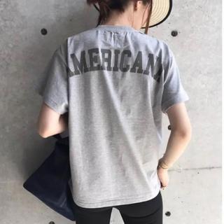 AMERICANA - 新品未使用 アメリカーナ バックロゴ Tシャツ グレー