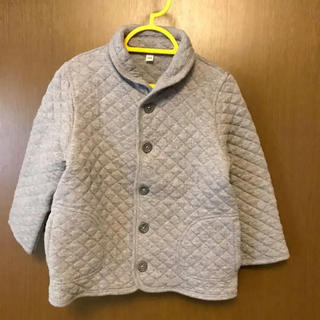 MUJI (無印良品) - 無印☆100cm キルティング ジャケット 綿 グレー