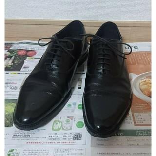 アオキ(AOKI)の美品 ビジネスシューズ 革靴 黒 AOKI 19,000円相当(ドレス/ビジネス)
