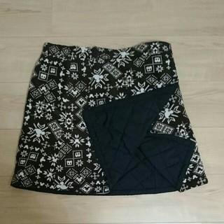 ディズニー(Disney)のミッキー 防寒 巻きスカート(ひざ丈スカート)