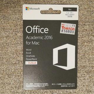マック(Mac (Apple))のOffice Academic 2016 for Mac(PC周辺機器)