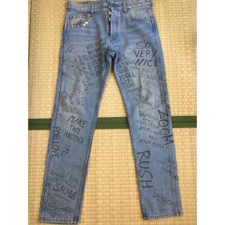 グッチ(Gucci)のGUCCI 17aw Scribbled Painted Jeans(デニム/ジーンズ)