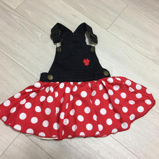 Disney - ミニーマウス サロペットスカート 70cm