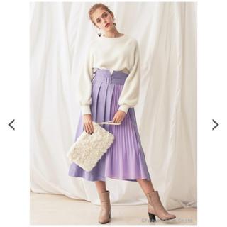 マーキュリーデュオ(MERCURYDUO)の人気商品 新品タグ付き マーキュリーデュオ プリーツ切り替えラップ風スカート(ロングスカート)