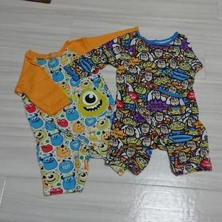 Disney - 男の子 baby セット ディズニー 長袖ロンパース