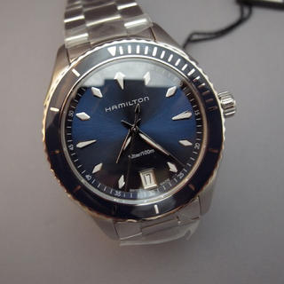 Hamilton - 新品 ハミルトン 腕時計 シービュー37ミリ Blue文字板 H37511141