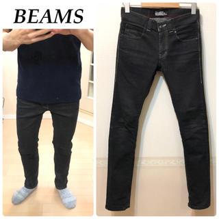 ビームス(BEAMS)のBEAMS 黒デニム スキニーデニム ダメージジーンズ メンズ 送料込(デニム/ジーンズ)