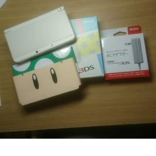 ニンテンドー3DS - new3DS ホワイト 極美品 充電器+きせかえプレート付き