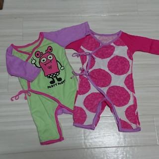 パーティーパーティー(PARTYPARTY)の女の子baby 秋冬 肌着 partyparty セット(肌着/下着)