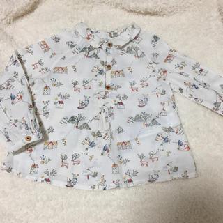 ザラ(ZARA)の美品 Zara 柄シャツ 86センチ 長袖 (シャツ/カットソー)