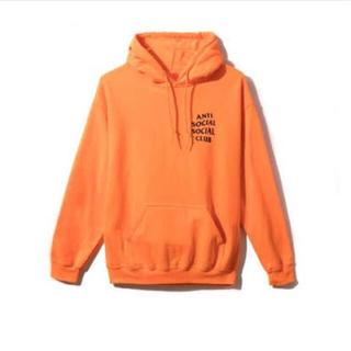 シュプリーム(Supreme)のanti sosial sosial club orange hoodie L(パーカー)