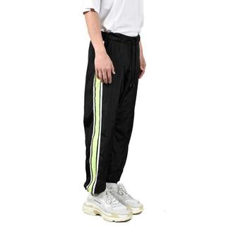 SIDE LINE NYLON SHELL TRACK PANTS BLACK(その他)