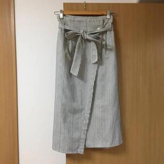 ページボーイ(PAGEBOY)のalicia PAGEBOY ストライプ 巻きスカート(ロングスカート)