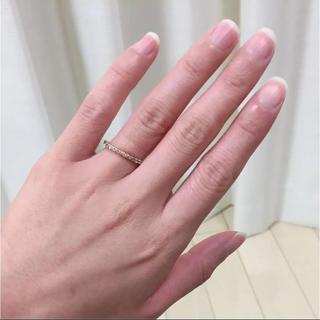ヨンドシー(4℃)の4°C/ヨンドシー PG ホワイトトパーズ エタニティリング✨美品(リング(指輪))