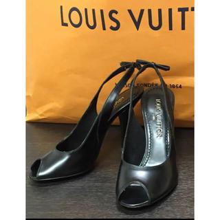 LOUIS VUITTON - LOUIS  VUITTON/ルイヴィトンサンダルミュール オープントゥ黒✨美品