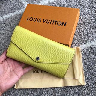 LOUIS VUITTON - 正規品 良品 エピ 新型 長財布 ポルトフェイユサラ