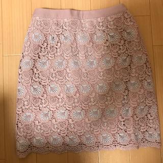 マーキュリーデュオ(MERCURYDUO)のカラーレースタイトスカート(ミニスカート)
