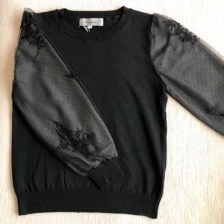 リランドチュール(Rirandture)の新品❤︎袖ドットチュール刺繍ニット❤︎リランド(ニット/セーター)
