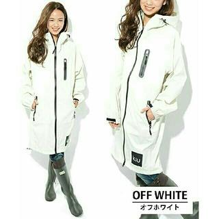 キウ(KiU)のkiu レインコート ホワイト 白 男女兼用   新品タグ付き アーバンリサーチ(レインコート)