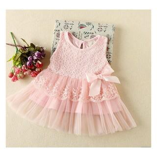70☆新品☆可愛いレースチュニックベビードレス☆ピンク