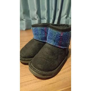 シマムラ(しまむら)のハリスツイード ムートンブーツ 15センチ(ブーツ)