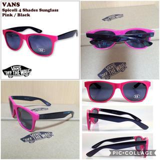 ヴァンズ(VANS)の新品!! VANS サングラス ミラー ピンク&ブラック(サングラス/メガネ)