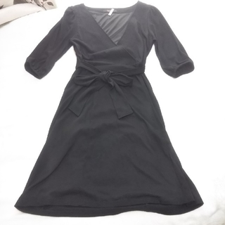 シェロー(chereaux)のchereaux (シェロー)  黒  リボン ワンピース(ひざ丈ワンピース)