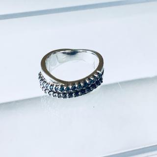 ヨンドシー(4℃)の【状態確認用画像②】☆輝くラインストーン☆4℃リング(リング(指輪))