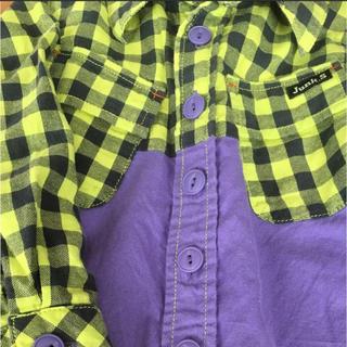 ジャンクストアー(JUNK STORE)の新品 ジャンクストアー チェックシャツ 100(Tシャツ/カットソー)