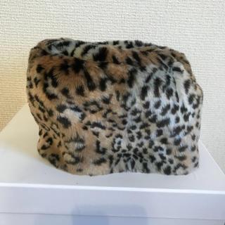ムルーア(MURUA)のMURUA ヒョウ柄 帽子 ムルーア  (ニット帽/ビーニー)