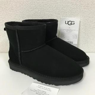 アグ(UGG)の新品未使用 アグ クラシックミニ Ⅱ 最新モデル ブラック US7 24cm(ブーツ)