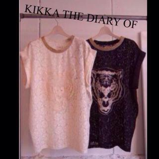 キッカザダイアリーオブ(KIKKA THE DIARY OF)のKIKKA THE DIARY OF刺繍レーストップス(シャツ/ブラウス(半袖/袖なし))