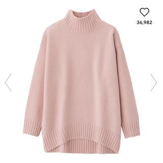 GU - 送料込み♡GU オーバーサイズハイネックチュニック ジーユー ピンク