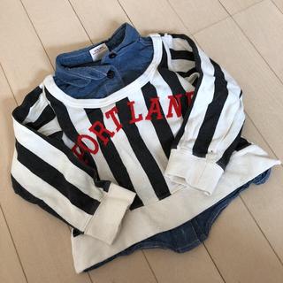 ジャンクストアー(JUNK STORE)のジャンクストア  重ね着風 ロンティー 95 デニムシャツ(Tシャツ/カットソー)
