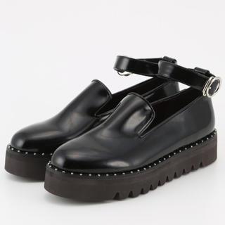 スライ(SLY)のSMALL STUDS FLAT SHOES(ローファー/革靴)