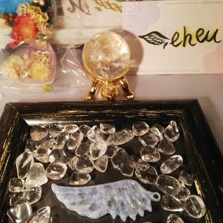 水晶、レモンクォーツの羽オルゴナイト(๑´ㅂ`๑)♡(その他)