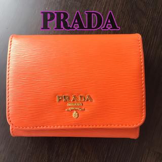 PRADA - PRADA VITELLO MOVE 三つ折りコンパクト財布 1M0176