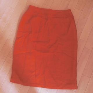 クリスチャンラクロワ(Christian Lacroix)のクリスチャンラクロワ イタリア製 秋冬 スカート オレンジ 80年代ヴィンテージ(ひざ丈スカート)