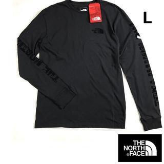 THE NORTH FACE - ノースフェイス ロンT 袖ロゴ 長袖Tシャツ【L】黒 新品 180902