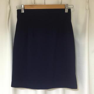 エディグレース(EDDY GRACE)のネイビータイトスカート(ひざ丈スカート)