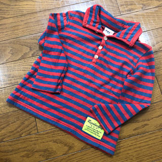 ドンキージョシー(Donkey Jossy)のDonky Jossy 長袖ボーダー カットソーシャツ 赤×ネイビー 95(Tシャツ/カットソー)
