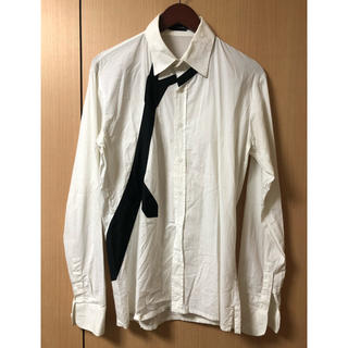 クリスヴァンアッシュ(KRIS VAN ASSCHE)のクリスヴァンアッシュ ネクタイデザインドレスシャツ(シャツ)
