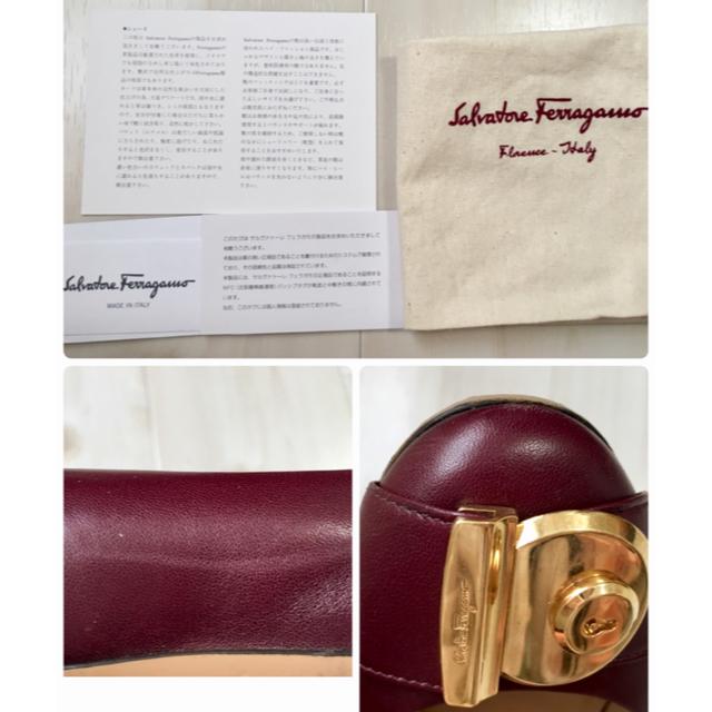 Salvatore Ferragamo(サルヴァトーレフェラガモ)のFerragamo フェラガモ パンプス ガンチーニ ボルドー 鍵型 ワイン レディースの靴/シューズ(ハイヒール/パンプス)の商品写真