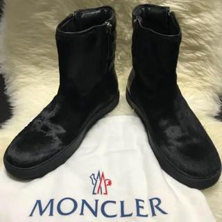 MONCLER - モンクレール MONCLER 新品 ハラコ×レザー ブーツ 43 27.5cm