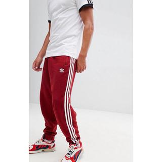 アディダス(adidas)の【Sサイズ】新品タグ付 adidas  3ストライプ ジョガーパンツ レッド(その他)