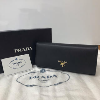 PRADA - 正規品 PRADA プラダ ジップ 長財布 カード 正規箱付き ブラック